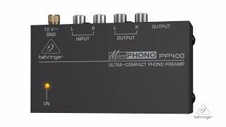 Behringer® Preamplificador Phono PP400 Ultra-Compact video