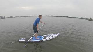 "STX inflatable windsup 11'6"" windsurfen Perfect Wind GoPro Hero 6"