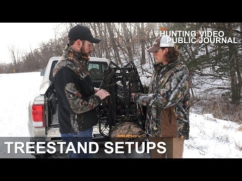 Hang And Hunt Treestand Setup | The Hunting Public