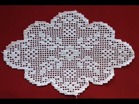 Crochet Oval Flower Filet Part 1 Youtube