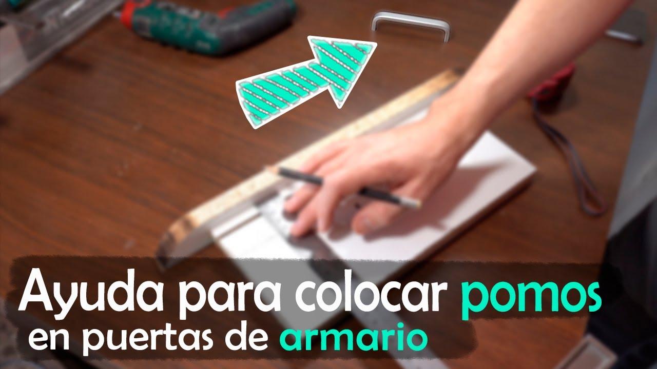 Ayuda para colocar pomos en puertas de armario | 4K | Español