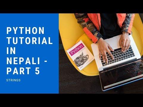 Python Tutorial in Nepali - Part 5 (Strings) thumbnail