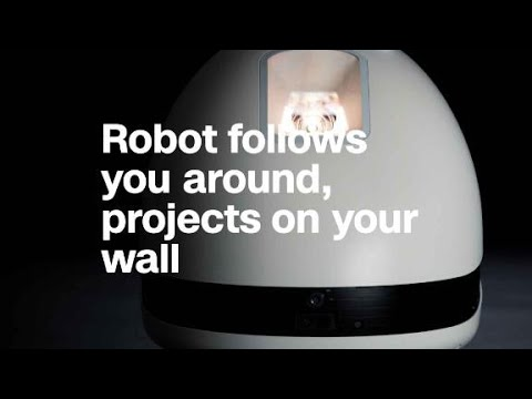 Robot follows you around, projects on your wall. Useful?