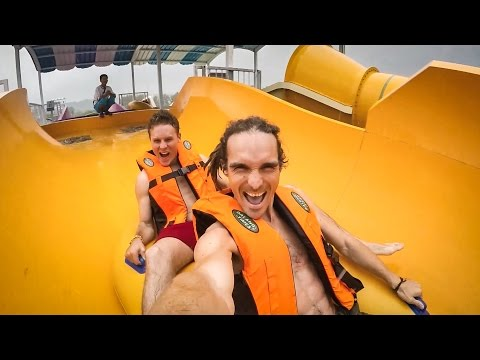 WATER PARK INJURY! - North Korea Day 2