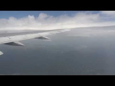 Onboard takeoff form Ohrid OHD airport Arkefly OM-AEX to AMS Schiphol