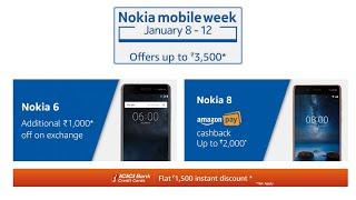 Nokia Mobile Week on Amazon (नोकिया 6 और नोकिया 8 पर डिस्काउंट)