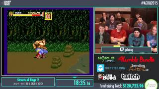 Streets of Rage 2 by Galedog in 27:51 - AGDQ2015 - Part 18