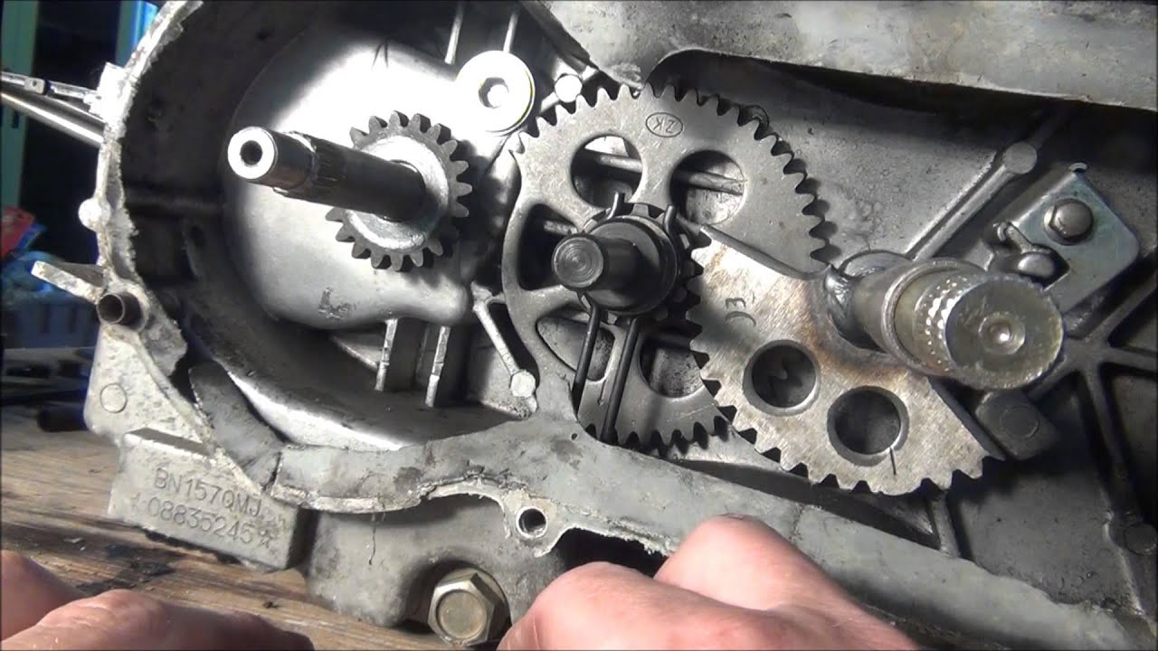 150cc Scooter Wiring Diagram Mallory Electronic Distributor Kick Start Gear Aligment - Gy6 Youtube