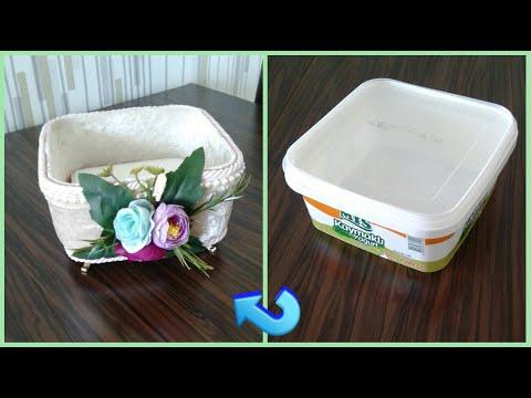 DIY : YOĞURT KABININ SÜPER GERİ DÖNÜŞÜMÜ / Recycle / Kendin yap