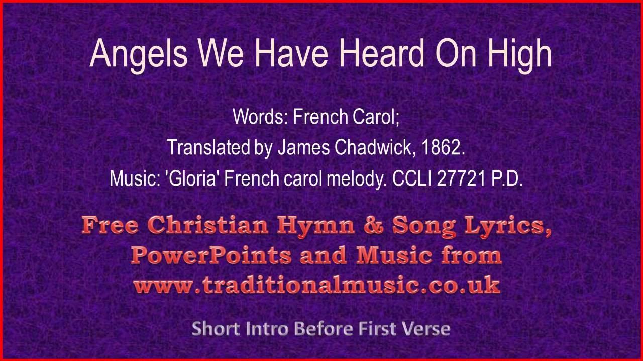 Angels We Have Heard On High - Christmas Carols Lyrics & Music ...