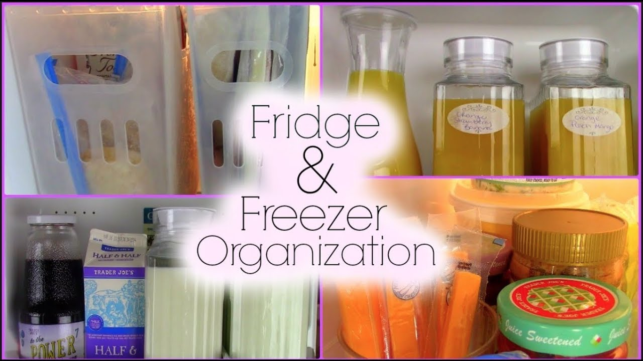 Fridge Amp Freezer Organization Side By Side Fridge Tour