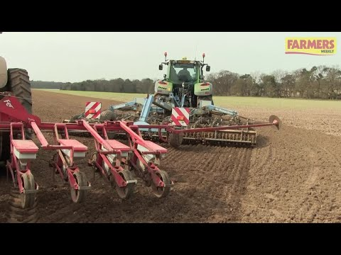 Sugar beet drilling kicks off for 2018 at the Euston Estate in Suffolk