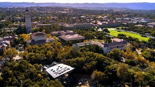 Aerial views of Stanford's Frost Amphitheater renovation