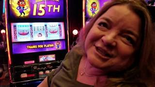 LADIES NIGHT OUT, SLOT CATS 1ST SLOT TOURNAMENT, $300 GROUP PULL FU DAO LE, TRACEY SPINS THE WHEEL