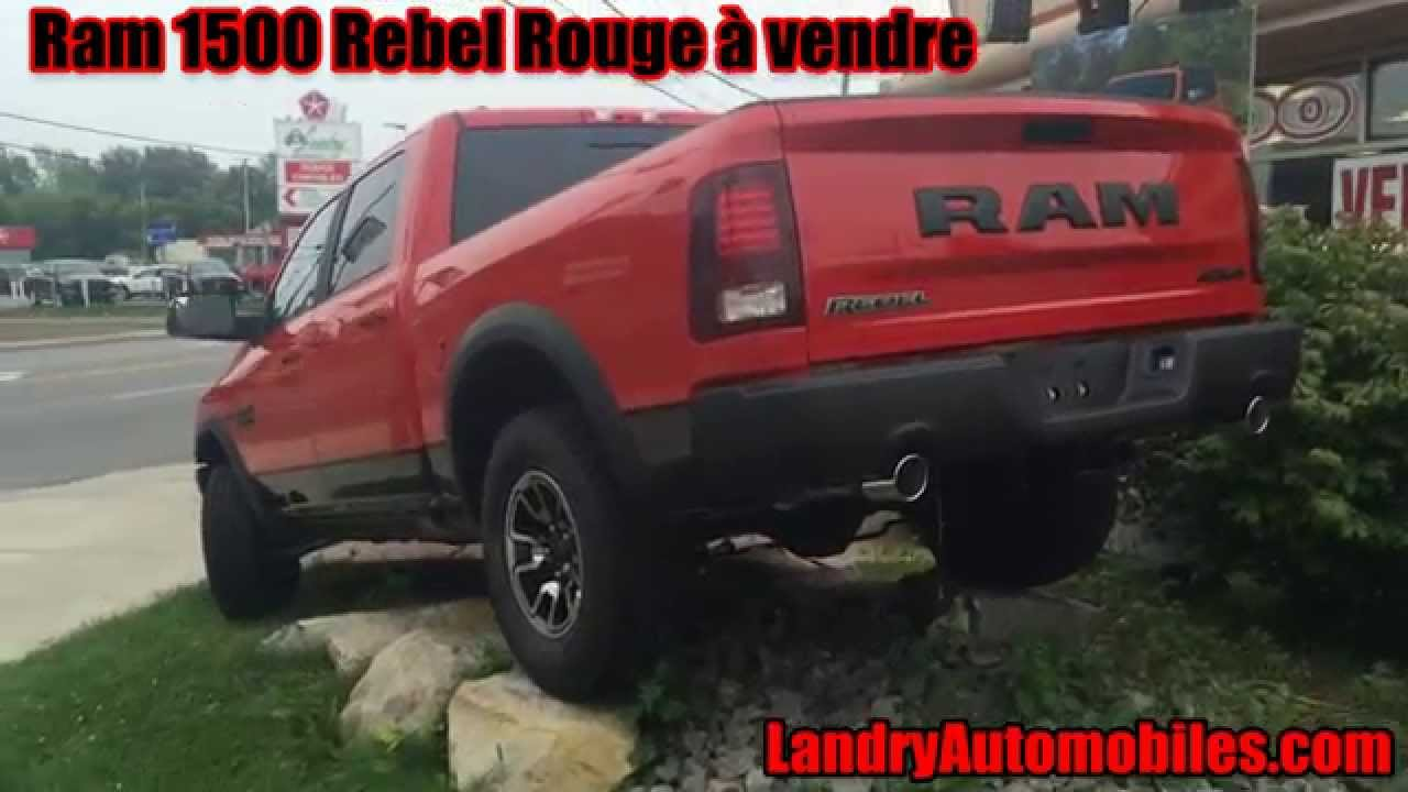 2015 ram 1500 rebel rouge vendre landry automobiles youtube. Black Bedroom Furniture Sets. Home Design Ideas