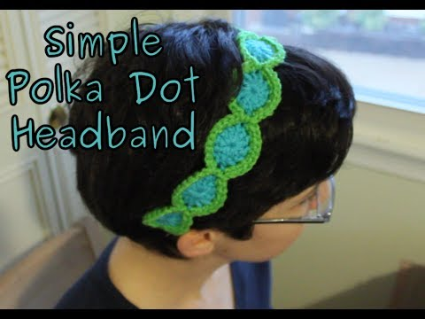Simple Crochet Headband Tutorial - YouTube
