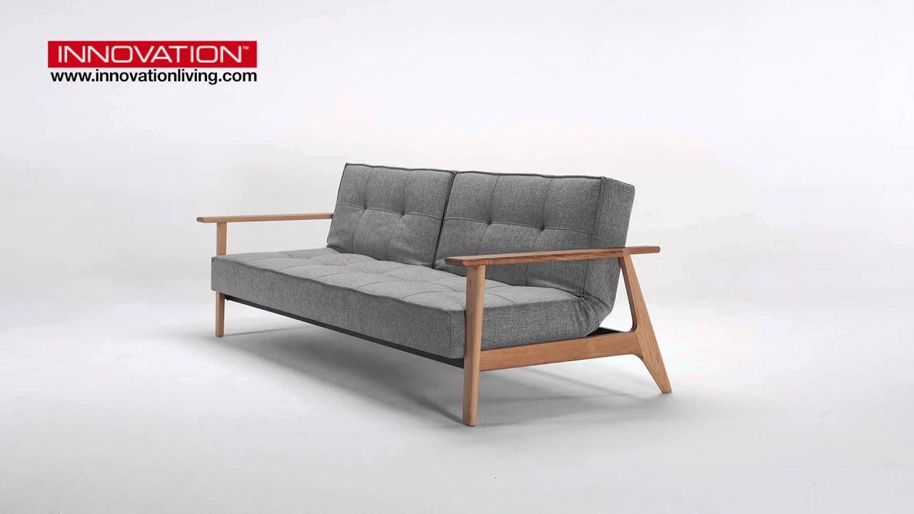 splitback frej schlafsofa von innovation youtube. Black Bedroom Furniture Sets. Home Design Ideas