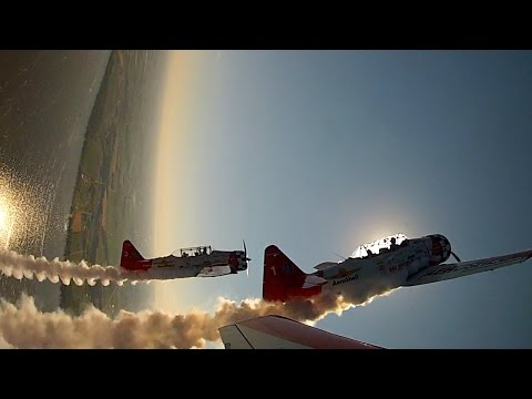 Formation Aerobatics - AeroShell T6 Texan - Oshkosh AirVenture 2015 - ATC Audio