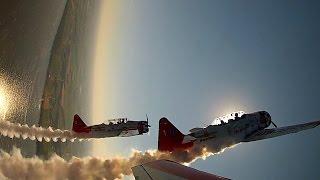 Formation Aerobatics - AeroShell T6 Texan - Oshkosh AirVenture 2015 - ATC Audio