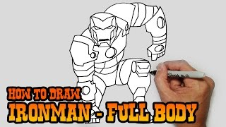 How to Draw Ironman- Full Body- Video Lesson