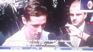 TORRES AL MILAN prima intervista a Sky Sport
