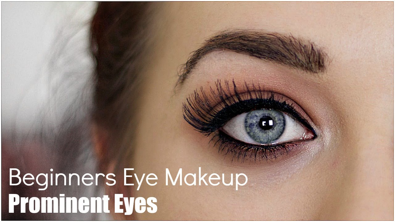Beginner eye makeup for prominent eye youtube beginner eye makeup for prominent eye baditri Choice Image