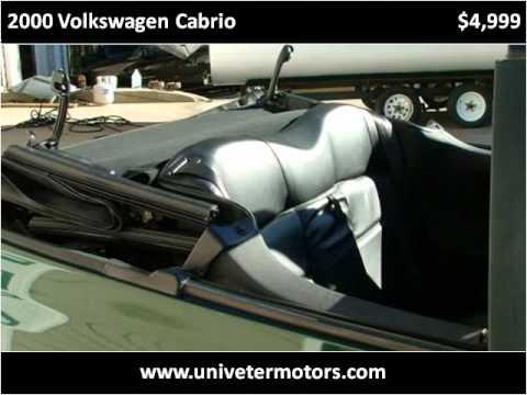 2000 Volkswagen Cabrio Used Cars Canton GA