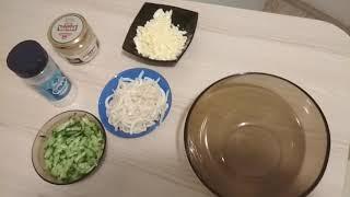 Салат из кальмаров и свежих огурцов. Салат на скорую руку.