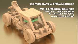 CNCKing.com's Mangonel B Siege Weapon CNC: 3D Assembly Animation (1080HD)