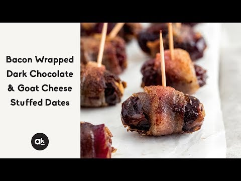 Bacon Wrapped Dark Chocolate & Goat Cheese Stuffed Dates