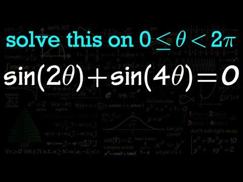 solve trig equations #4 (double angle formula)