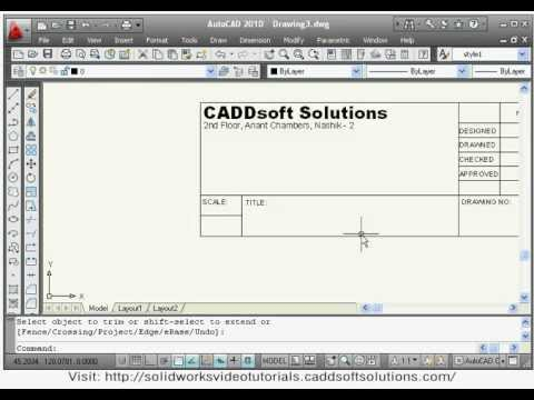 iso title block autocad template