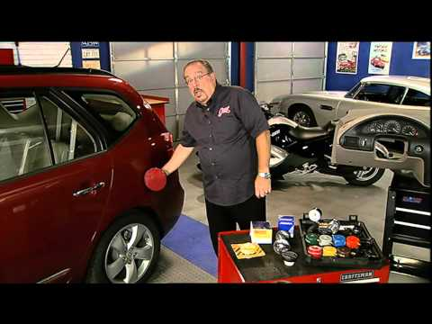 Replacing gas cap after Check Engine light comes on.