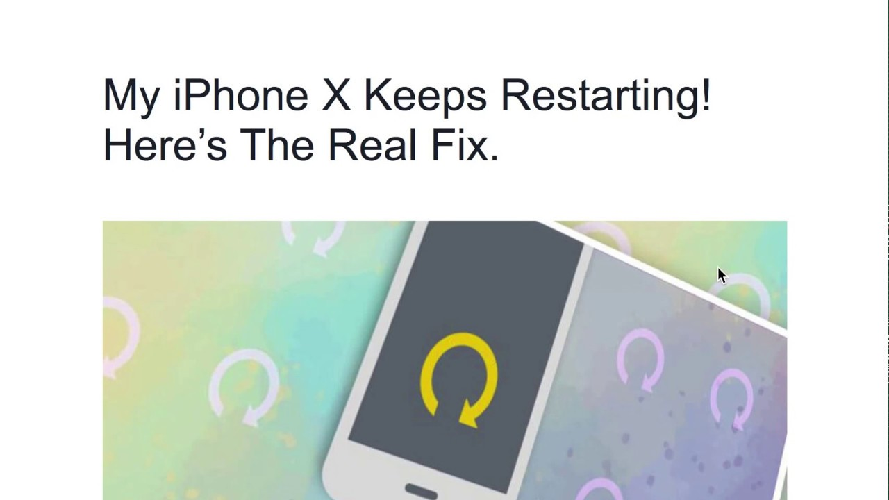 My iPhone X Keeps Restarting! Here's The Real Fix