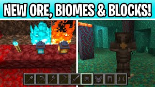 Minecraft Nether Update Features Are OUT NOW! New Armor, Tools & Biomes! 1.16 Snapshot 20W0