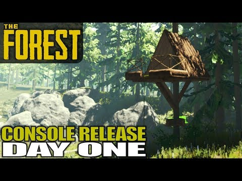 NEW WORLD DAY 1, CONSOLE RELEASE | The Forest | Let's Play Gameplay | S15E01
