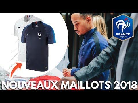 LES MAILLOTS DE L'ÉQUIPE DE FRANCE POUR LA COUPE DU MONDE 2018