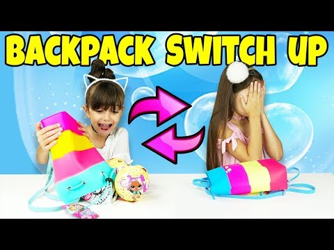 The BACKPACK SWITCH UP CHALLENGE! With Surprise Toys