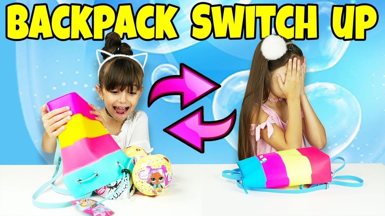 Switch It Up Toys : The backpack switch up challenge with surprise toys youtube
