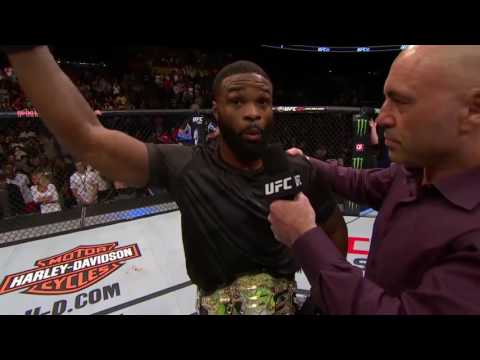 UFC 201: Tyron Woodley and Robbie Lawler Octagon Interview