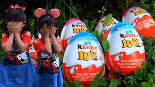 Serunya Main PETAK UMPET Berburu KINDER JOY | Hide And Seek Kids Hunt Kinder Joy Surprise Egg