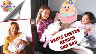 BABYS ERSTER BESUCH & BABY BADEN - türkische traditionelle BABYWASCHUNG - Family Fun