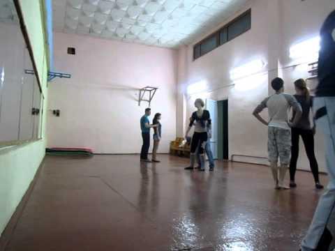 Занятие по танцу Zouk class in dance studio DancA 31 03 14 г. Гомель, Беларусь
