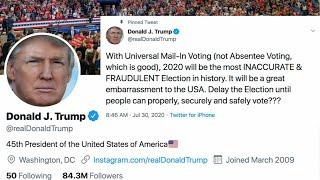 Bipartisan pushback to Trump election delay tweet