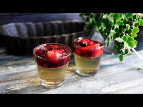 Алкогольное желе из шампанского с ягодами: пошаговый рецепт