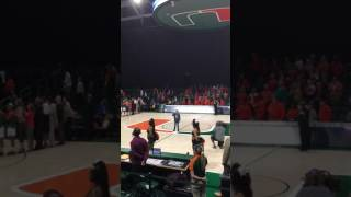9 Year Old With Amazing Voice Sings National Anthem At University Of Miami Baske