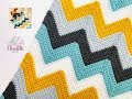 CROCHET CHEVRON STITCH / EASY BABY BLANKET
