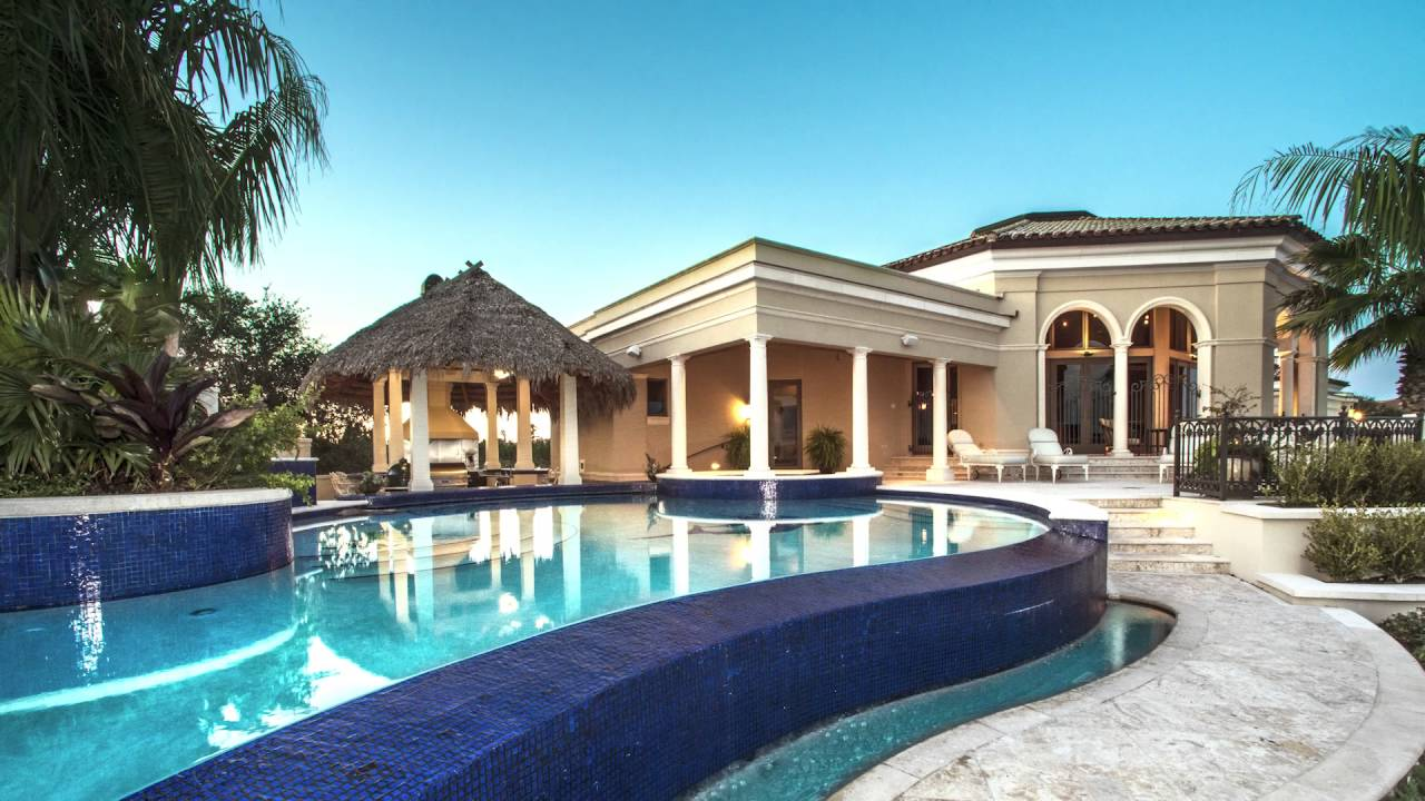 Luxury Florida Mansion For Sale Amazing Swimming Pool