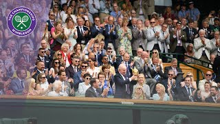 Sporting stars welcomed to the Royal Box at Wimbledon 2019