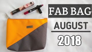 Fab Bag August 2018 with Sugar Cosmetics | Is it Really Fab? | Unboxing & Review